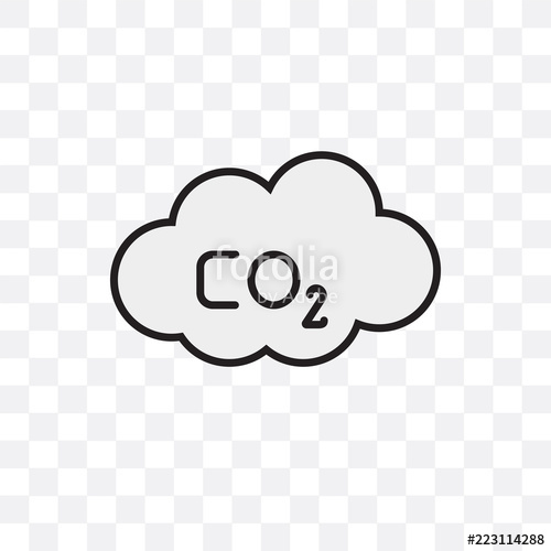 500x500 Co2 Vector Icon Isolated On Transparent Background, Co2 Logo