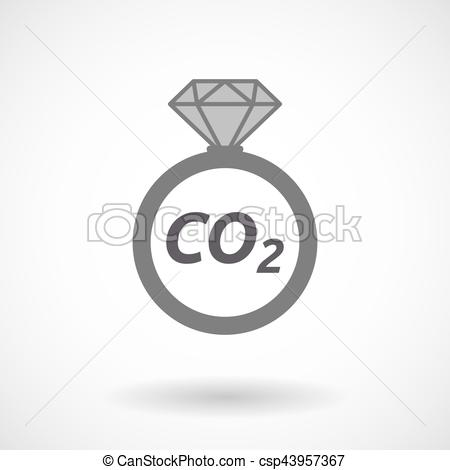 450x470 Isolated Ring With The Text Co2. Illustration Of An Isolated