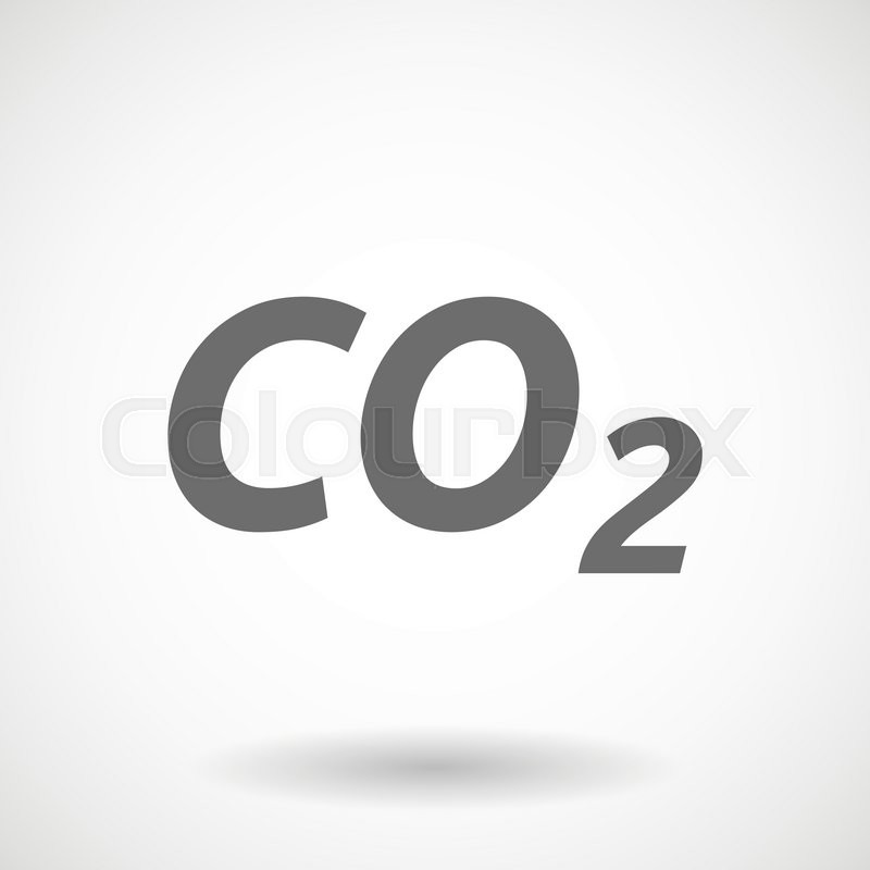 800x800 Isolated Vector Illustration Of The Text Co2 Stock Vector