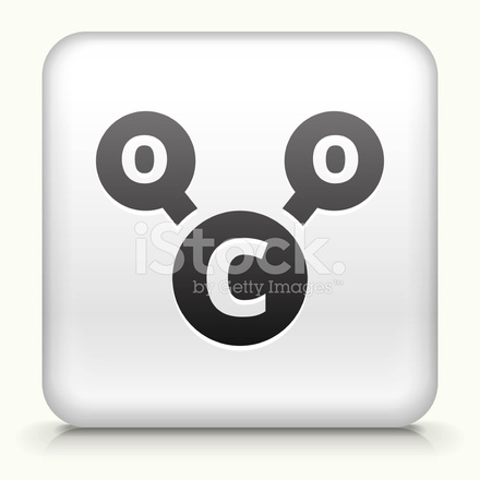 440x440 Square Button With Co2 Chemical Royalty Free Vector Art Stock
