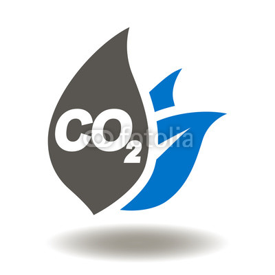 400x400 Co2 Leaf Icon Vector. Ecology, Climate, Safety Nature, Emissions