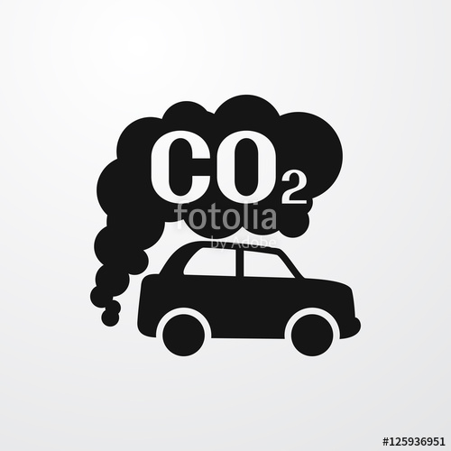 500x500 Co2 Car Icon Illustration Stock Image And Royalty Free Vector