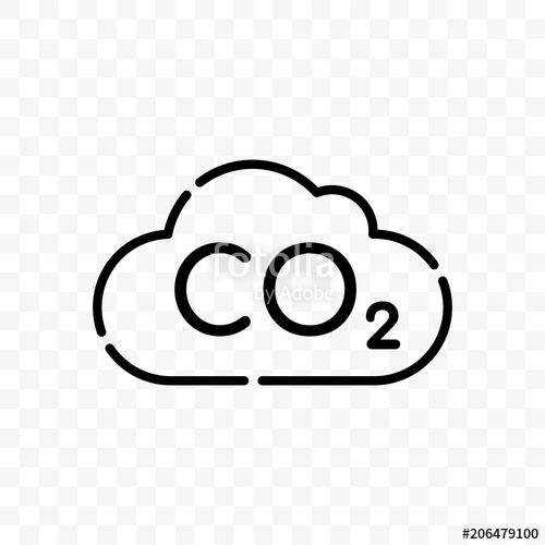 500x500 Co2 Cloud Carbon Pollution Vector Icon Stock Image And Royalty