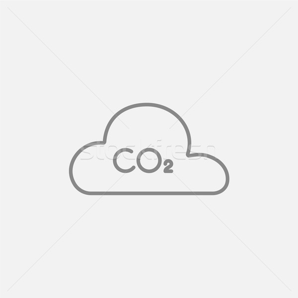 600x600 Co2 Sign In Cloud Line Icon. Vector Illustration Andrei Krauchuk