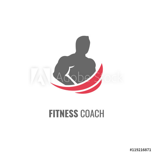 500x500 Fitness Coach Logo Or Icon.