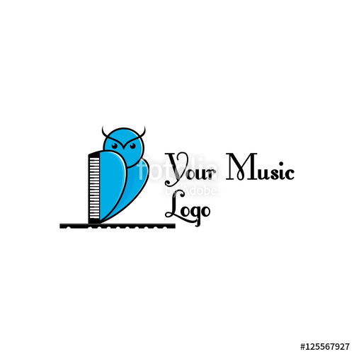 500x500 Owl Music Logo Coach Stock Image And Royalty Free Vector Files On