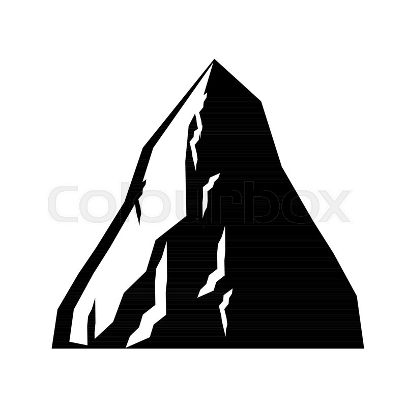 800x800 Rock Coal Mining Icon. Mountain Of Coal Isolated. Vector