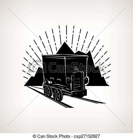 450x470 Silhouette Coal Mine Trolley Against Mountains And Sunburst,mining