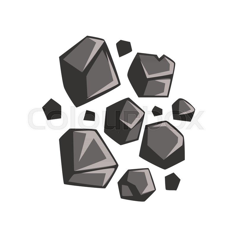 800x800 Cartoon Lumps Of Coal. Energy Resource, Mining And Quarrying
