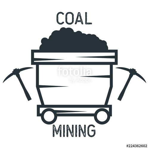 500x500 Coal Mining Insignia. Vector Illustration Stock Image And Royalty