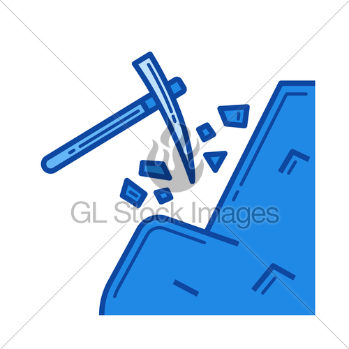 500x500 Coal Mining Line Icon. Gl Stock Images
