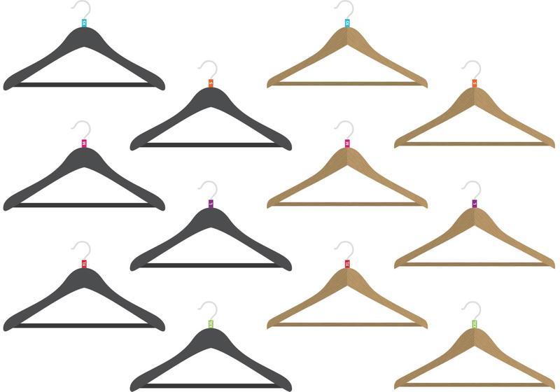 800x560 Coat Hanger Vectors With Sizes