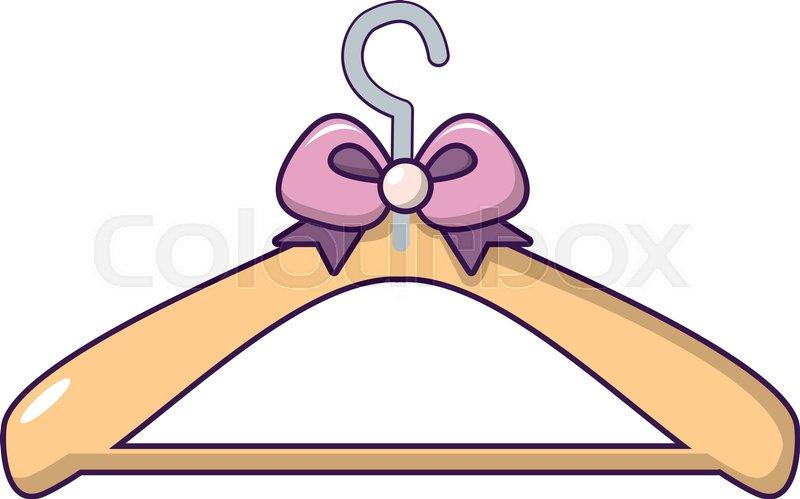 800x499 Coat Hanger Icon. Cartoon Illustration Of Coat Hanger Vector Icon