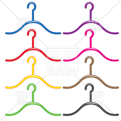 400x400 Colourful Clothes Hanger Vector Image Vector Artwork Of Objects