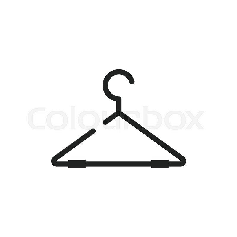800x800 Hanger Vector Icon. Wardrobe Hander Flat Illustration. Stock