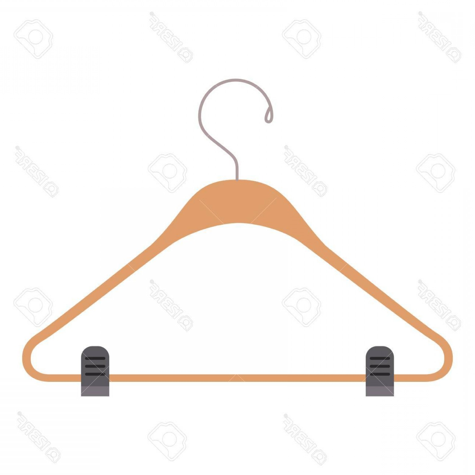 1560x1560 Photostock Vector Colorful Silhouette Of Clothes Hanger Vector