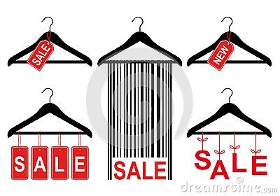 400x280 Sale Tags On Clothes Hanger, Vector Set By Beata Kraus, Via