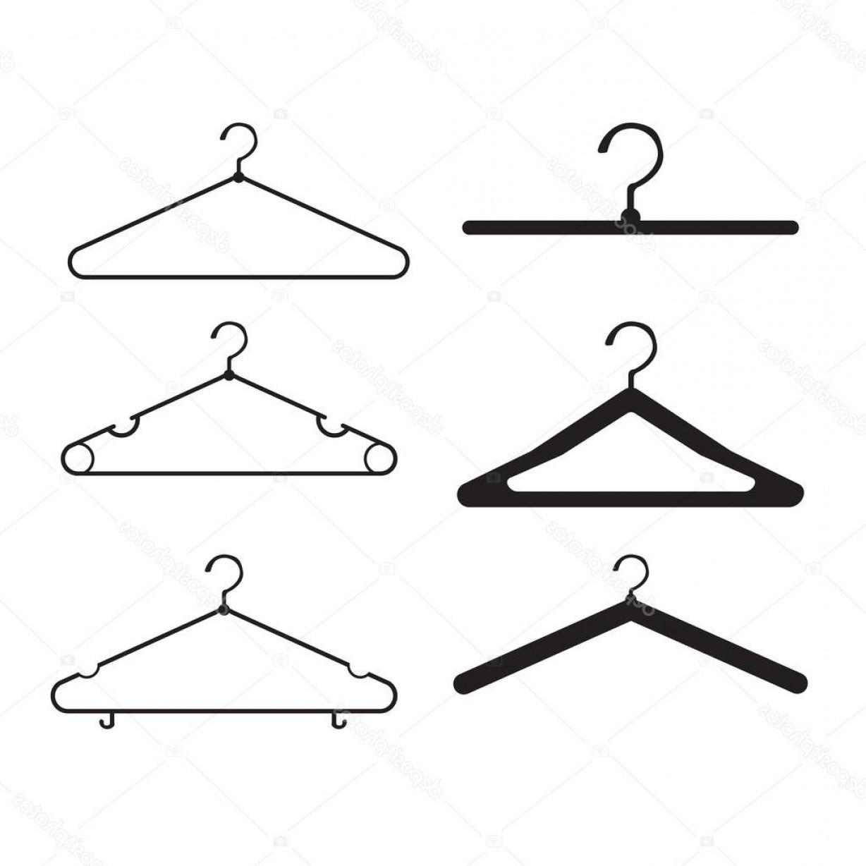 1228x1228 Stock Illustration Clothes Hanger Vector Icon Set Lazttweet