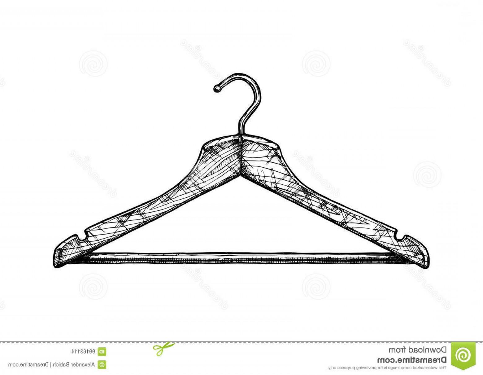 1560x1210 Stock Illustration Illustration Coat Hanger Vector Black White