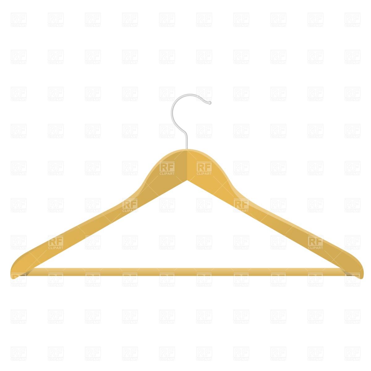 1200x1200 Wooden Clothes Hanger Vector Image Vector Artwork Of Beauty