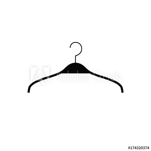 500x500 Black Hanger Vector Illustration