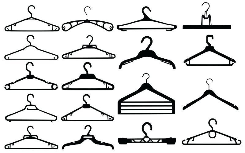 800x501 Cloth Hanger Vector