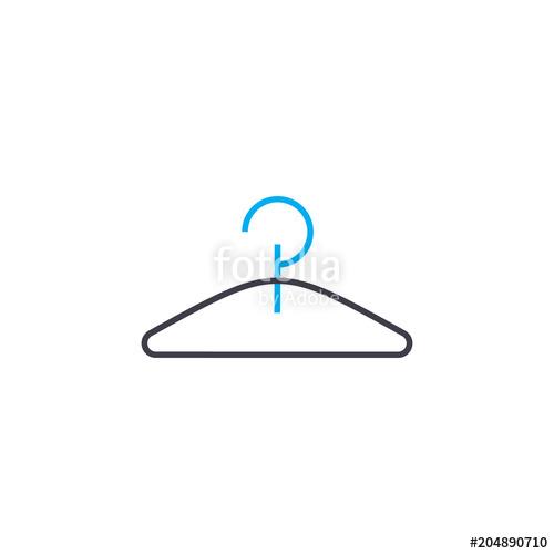 500x500 Clothes Hanger Vector Thin Line Stroke Icon. Clothes Hanger