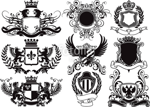 500x356 Coat Of Arms, Shields And Heraldic Vector Elements Stock Image