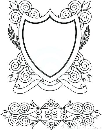 352x450 Coat Of Arms Template Vector Free Maker Theworldtome.co