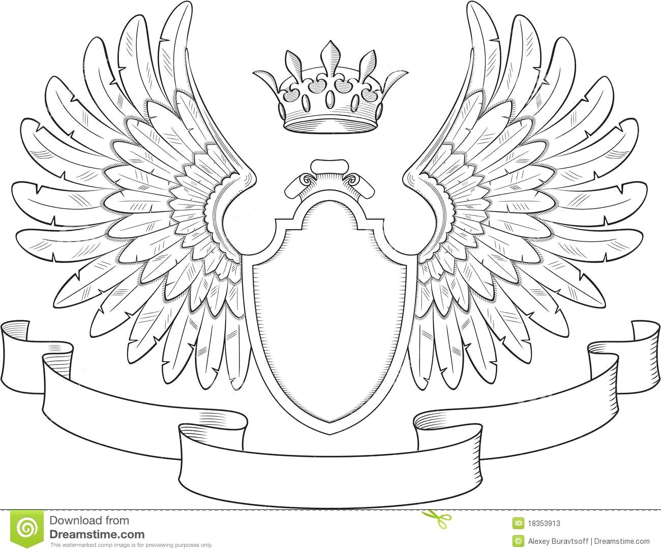 1300x1092 Coat Of Arms Template With Heraldic Eagle Shield Vector 19746342