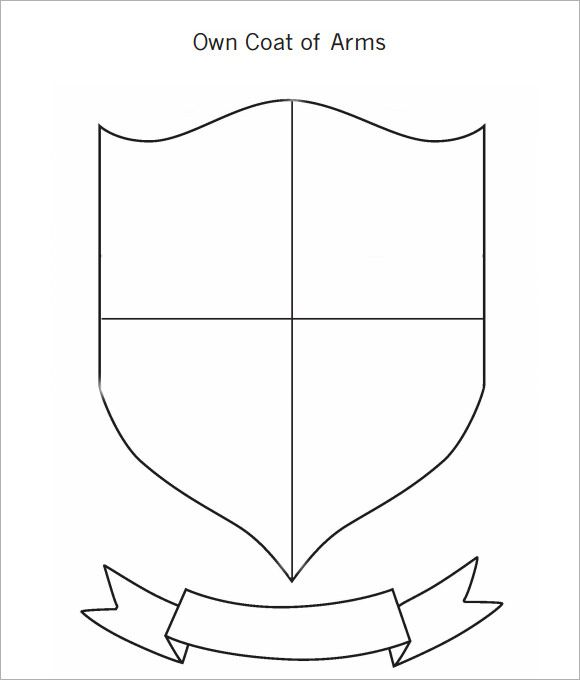 580x680 Coat Of Arms Template 12 Download In Pdf Psd Eps Vector Smprjkiz