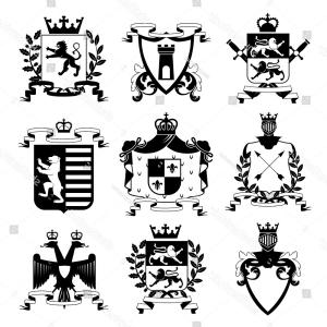 300x300 Family Coat Of Arms Elements For Heraldic Vector Arenawp