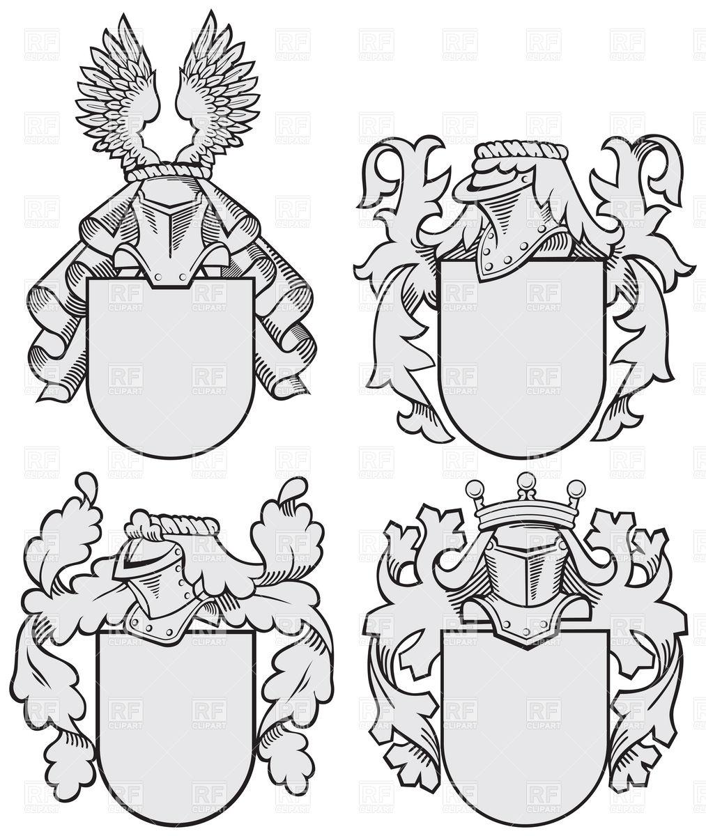 1013x1200 Heraldic Elements Templates