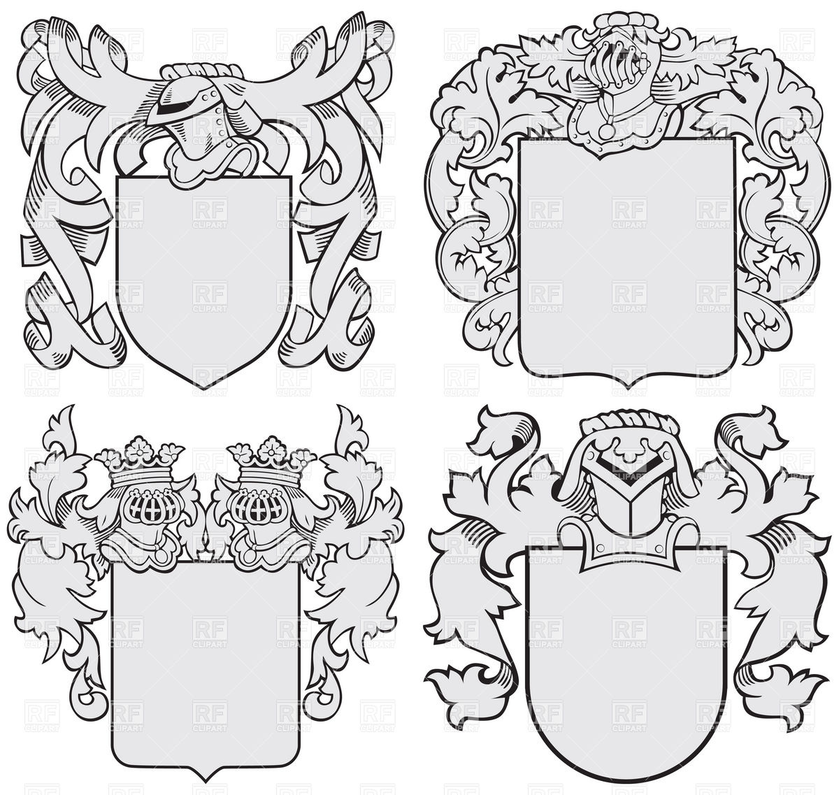 1200x1137 Medieval Coats Of Arms Heraldic Templates With Helmet And Shield