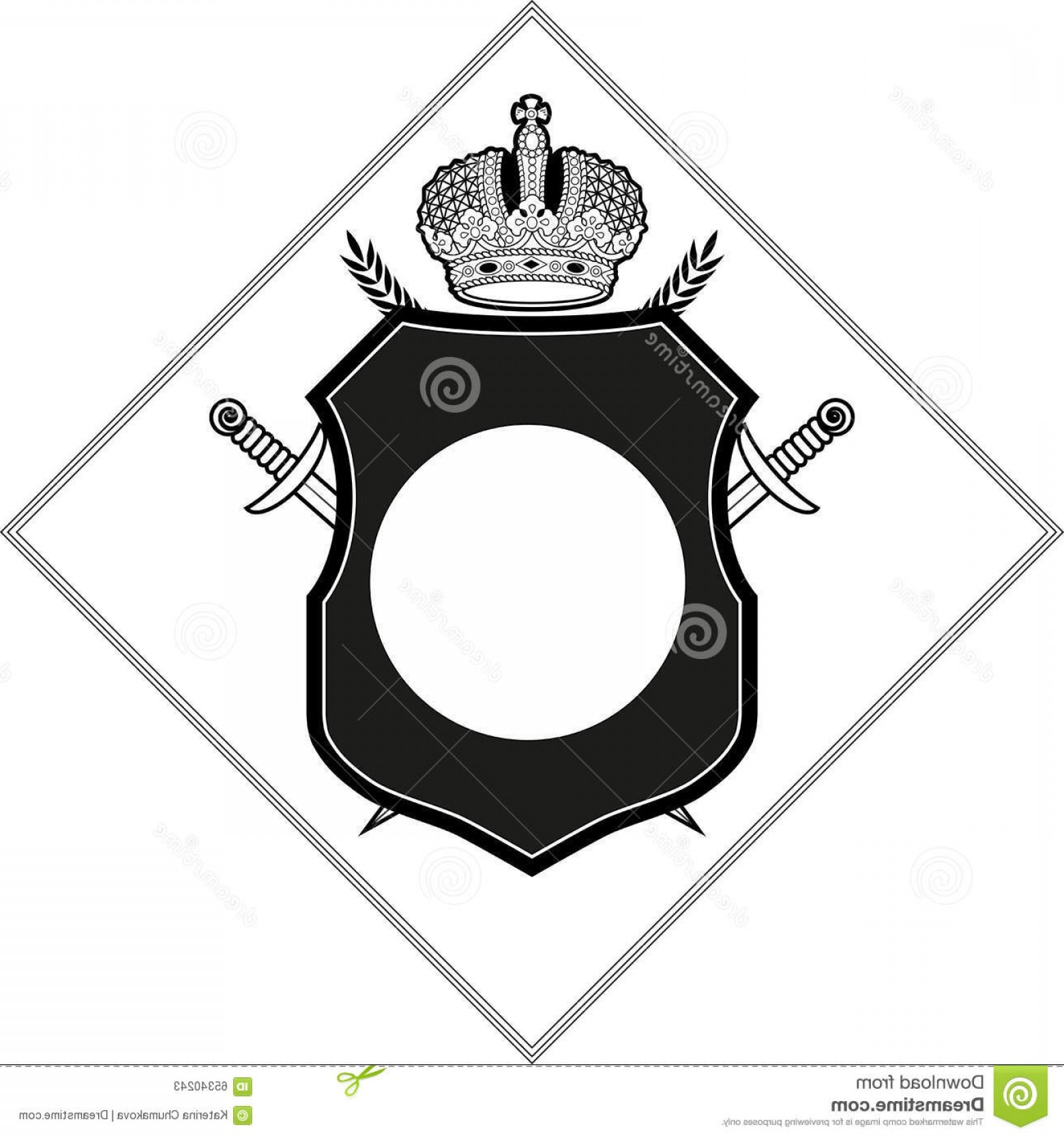 1560x1668 Stock Illustration Vector Coat Arms Design Template Crown Shield