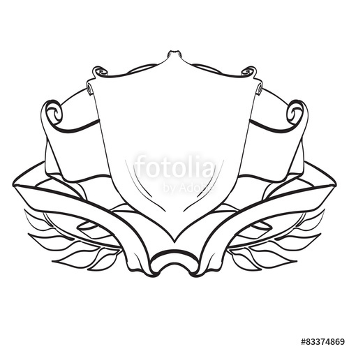 500x500 Oat Of Arms Shield Logo Template, Vector, Vintage Stock Image And