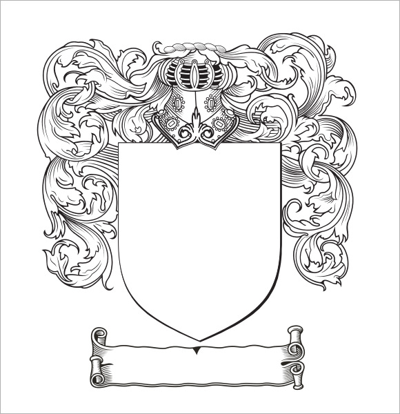 580x600 Coat Of Arms Template