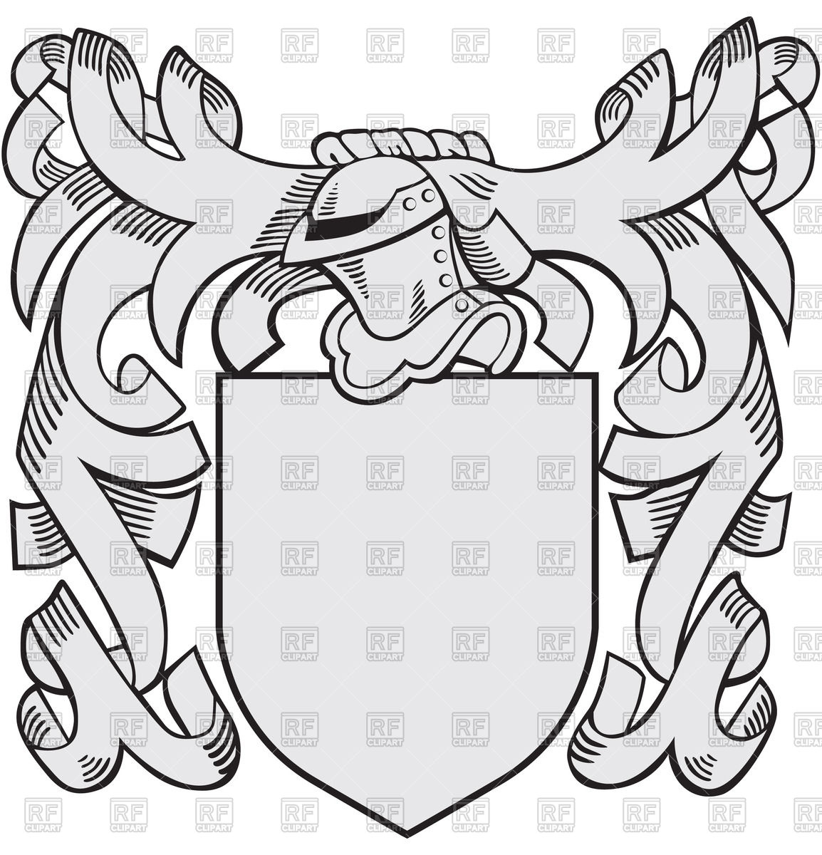 1154x1200 Heraldic Templates With Helmet And Shield