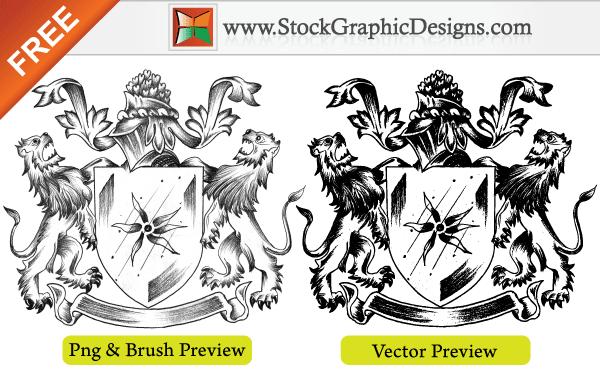 600x370 Sketchy Coat Of Arms Heraldic Shield Free Vector 123freevectors
