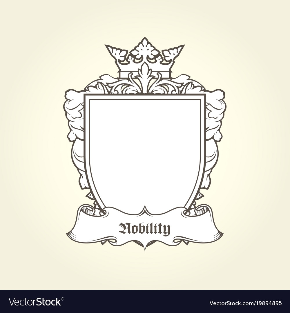1000x1080 Blank Template Of Coat Arms Shield Vector 19894895 15