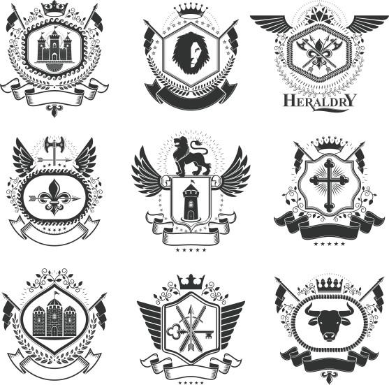 557x551 Heraldic Vector Free Download Compilation