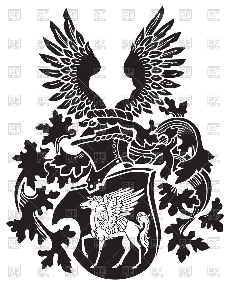 969x1200 Pegasus On Medieval Coat Of Arms Vector Image Vector Artwork Of