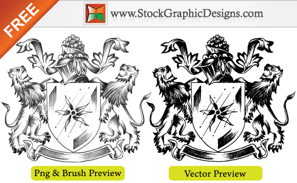 600x370 Sketchy Coat Of Arms Heraldic Shield Free Vector Free Heraldry