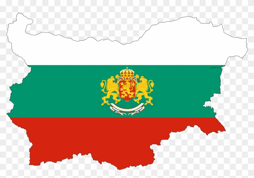 840x587 Bulgaria Map Flag With Stroke And Coat Of Arms