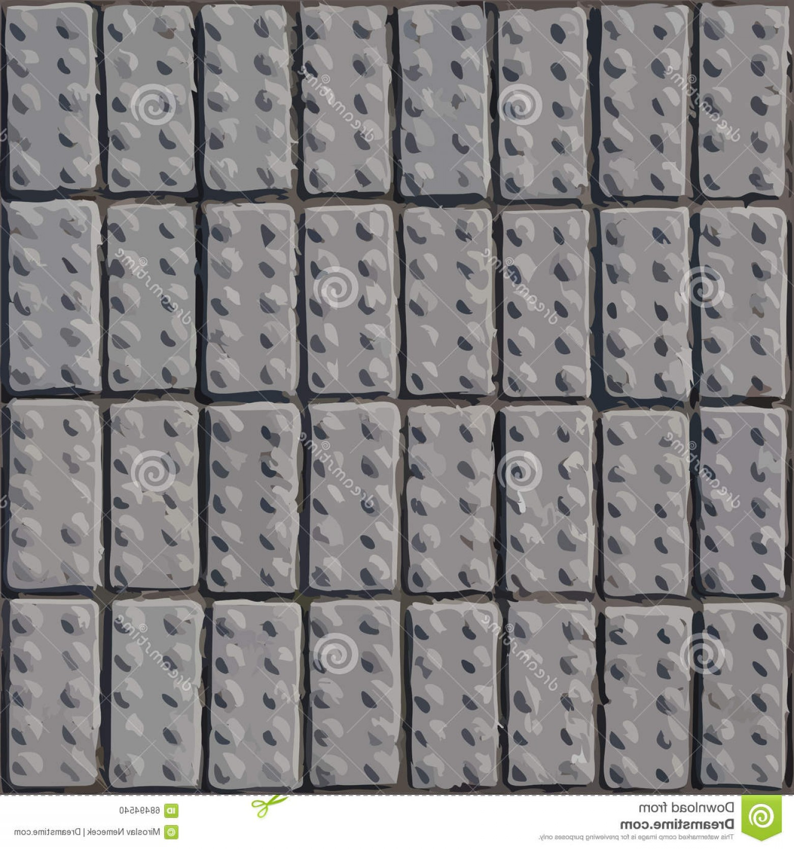 1560x1668 Stock Illustration Cobblestone Pavement Vector Texture Background