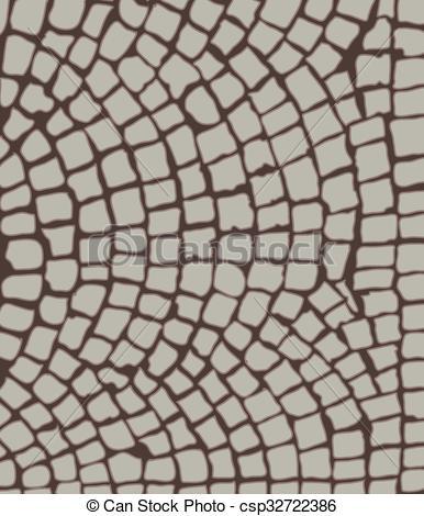 386x470 Cobbles Area. Cobbles, Area. Vector Illustration.