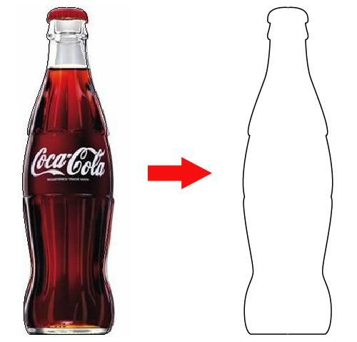500x479 Drawn Bottle Coca Cola Bottle