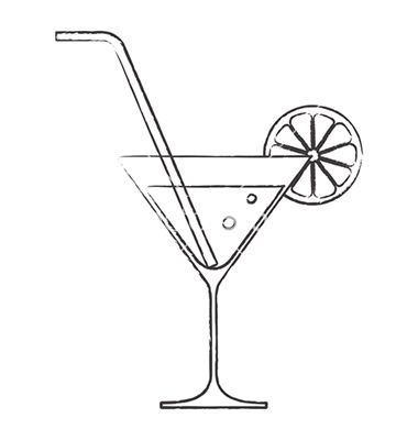 380x400 Cocktail Glass Vector Cocktails For Signage