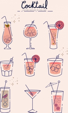 220x368 Cocktail Glass Vector Free Vector Download (2,482 Free Vector) For