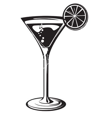 380x400 Cocktail Glass With Lemon Vector By Tribaliumvs
